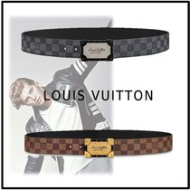 Louis Vuitton 2019-20AW NEO TRUNK 40MM REVERSIBLE BELT gray marron belt