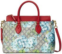 GUCCI Flower Patterns A4 2WAY Handbags