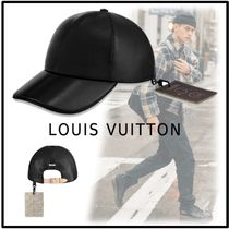 Louis Vuitton 2019-20AW LEATHER CAP  black free casket