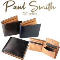 Paul Smith Plain Leather Folding Wallet Folding Wallets