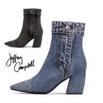 Jeffrey Campbell Plain Chunky Heels Ankle & Booties Boots