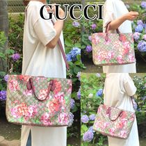 GUCCI Flower Patterns A4 2WAY Elegant Style Totes