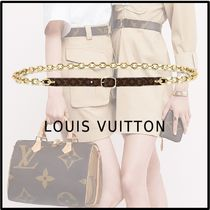 Louis Vuitton 2019-20AW TWIST THE CHAIN 12MM BELT brown 80 85 90 belt