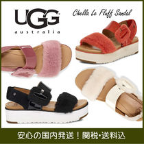 UGG Australia Open Toe Platform Casual Style Plain Leather