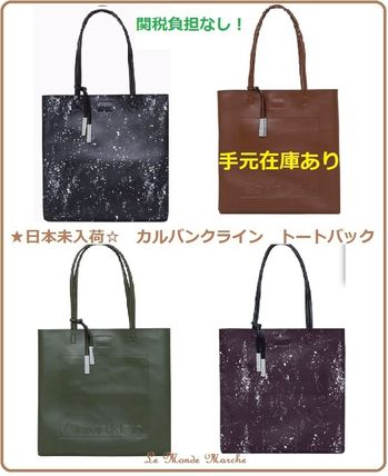 Casual Style Unisex Street Style A4 Plain Office Style Totes