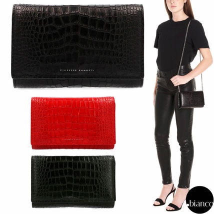 2WAY Chain Leather Elegant Style Clutches