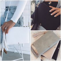 WHITE FOX Casual Style 2WAY Plain Shoulder Bags