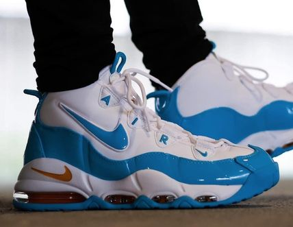 Nike AIR MORE UPTEMPO Unisex Street Style Logo Sneakers