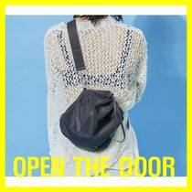OPEN THE DOOR Unisex Street Style Shoulder Bags