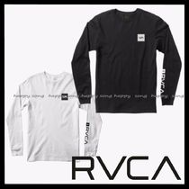 RVCA Street Style Long Sleeves Cotton Long Sleeve T-Shirts