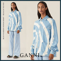 Ganni Blended Fabrics Street Style Collaboration Long Sleeves