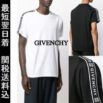 GIVENCHY Crew Neck Pullovers Street Style Plain Cotton Short Sleeves