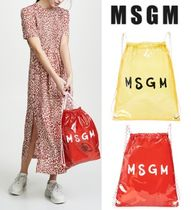 MSGM Casual Style Unisex Purses Crystal Clear Bags PVC Clothing