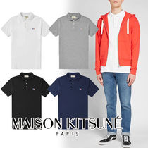 MAISON KITSUNE Pullovers Street Style Plain Cotton Short Sleeves Polos