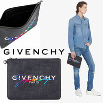 GIVENCHY Unisex Canvas Plain Clutches