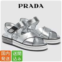 PRADA Open Toe Casual Style Sandals