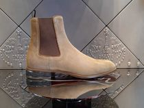Christian Louboutin Suede Street Style Plain Chelsea Boots Chelsea Boots
