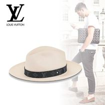 Louis Vuitton Blended Fabrics Felt Hats Straw Hats