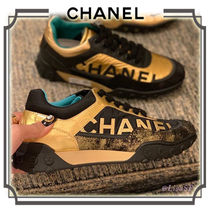 CHANEL Lace-up Casual Style Leather Low-Top Sneakers