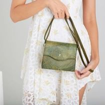 THAMON Casual Style Faux Fur Blended Fabrics Shoulder Bags
