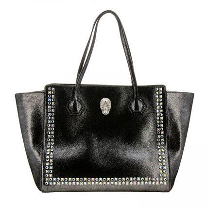Skull Studded Leather Totes