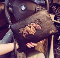 Skull Faux Fur 2WAY Clutches