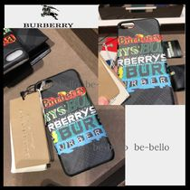Burberry Leather Smart Phone Cases