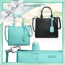 Tiffany & Co Calfskin 2WAY Bi-color Elegant Style Totes