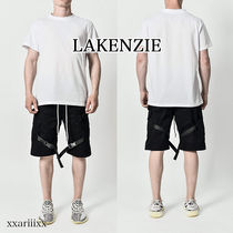 LAKENZIE Stripes Street Style Plain Cotton Cargo Shorts