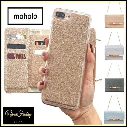 Faux Fur Street Style Plain Smart Phone Cases