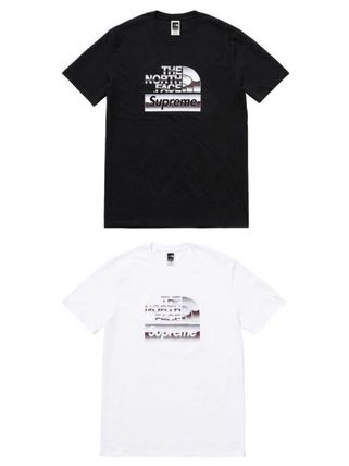 Supreme More T-Shirts Unisex Street Style U-Neck Collaboration Cotton