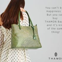 THAMON Casual Style Faux Fur Blended Fabrics Totes