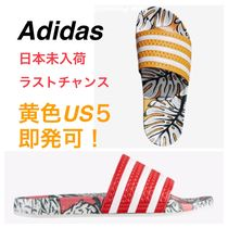 adidas ADILETTE Tropical Patterns Open Toe Casual Style Shower Shoes