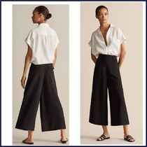 Massimo Dutti Casual Style Linen Plain Medium Culottes & Gaucho Pants