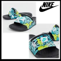 Nike Tropical Patterns Blended Fabrics Street Style Shower Shoes