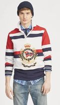POLO RALPH LAUREN Pullovers Stripes Street Style Long Sleeves Cotton Oversized