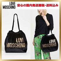 Love Moschino Casual Style Plain Handbags