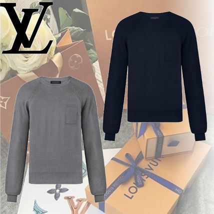 Louis Vuitton Knits & Sweaters Crew Neck Wool Long Sleeves Knits & Sweaters