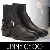 Jimmy Choo Plain Toe Engineer Boots