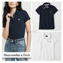 Abercrombie & Fitch Street Style Plain Short Sleeves Polo Shirts