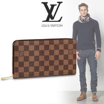 Louis Vuitton ZIPPY ORGANISER Other Check Patterns Canvas Street Style Long Wallets