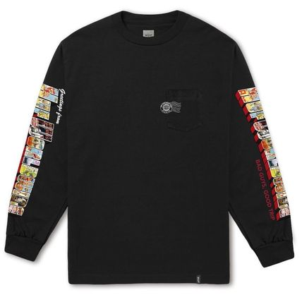 HUF More T-Shirts Street Style U-Neck Long Sleeves Long Sleeve T-shirt