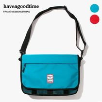 have a good time Unisex Street Style Plain Shoulder Bags