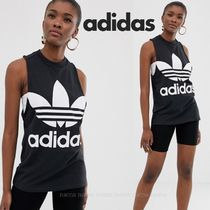 adidas Crew Neck Street Style Cotton Tanks & Camisoles