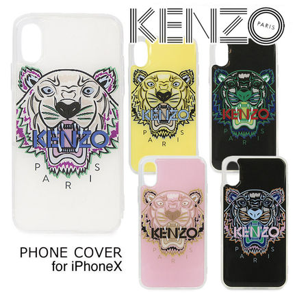 KENZO Unisex Street Style Other Animal Patterns iPhone X iPhone XS