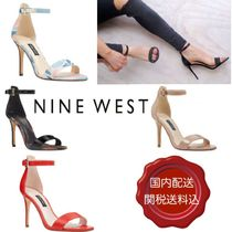 Nine West Open Toe Plain Leather Pin Heels Party Style Heeled Sandals