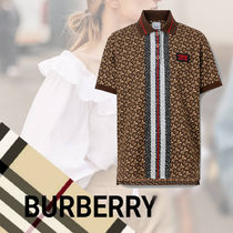 Burberry Cotton Short Sleeves Oversized Polo Shirts