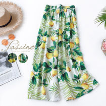 Tropical Patterns Casual Style Cotton Long