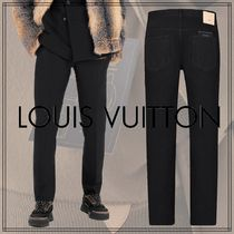 Louis Vuitton Blended Fabrics Street Style Plain Cotton