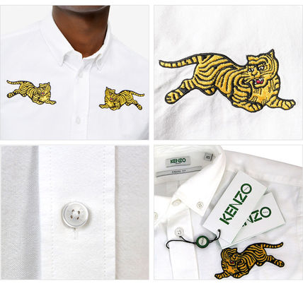 KENZO Shirts Button-down Street Style Long Sleeves Other Animal Patterns 4